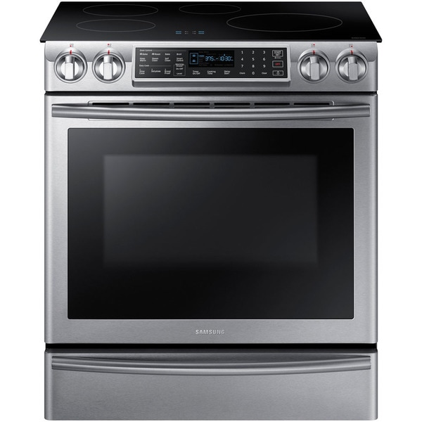 Samsung NE58K9560WS Stainless Steel 30-inch Electric Induction Slide in Range