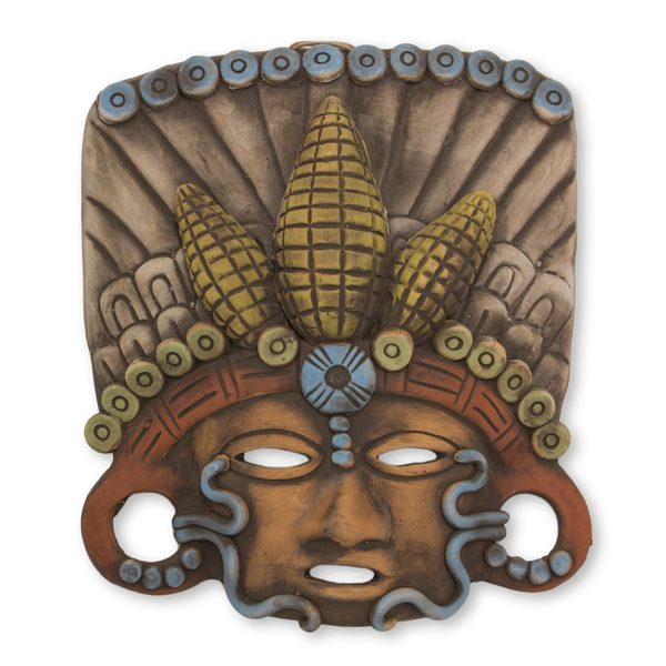 In Honor of Maize Ceramic Mask (Mexico)