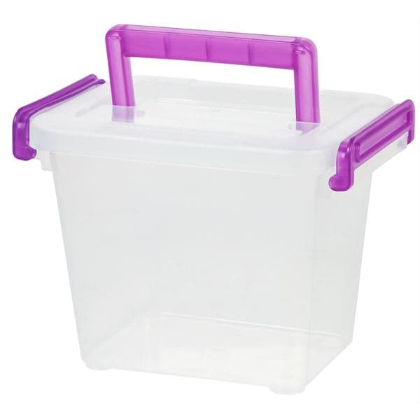 IRIS Clear Plastic Small Modular Latching Box
