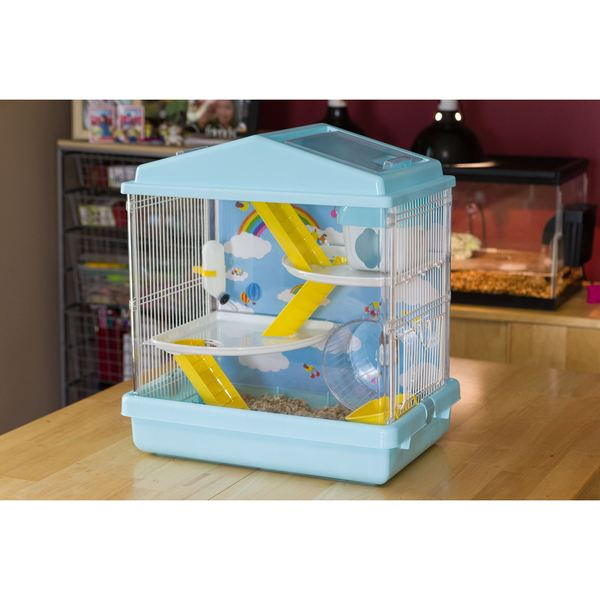 Iris USA 3-tier Blue and Red Hamster Cage
