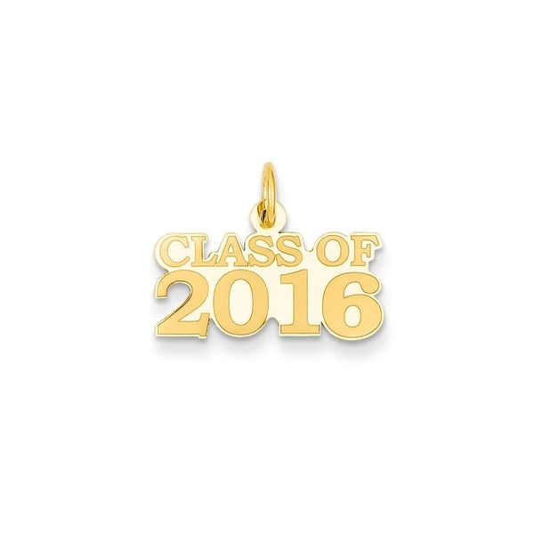 14k Yellow Gold 'Class of 2016' Charm