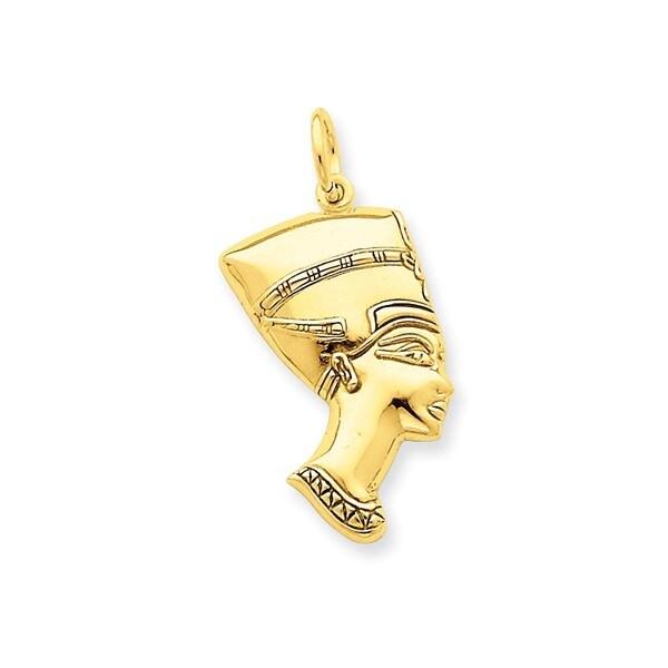 14k Yellow Gold Nefertiti Charm