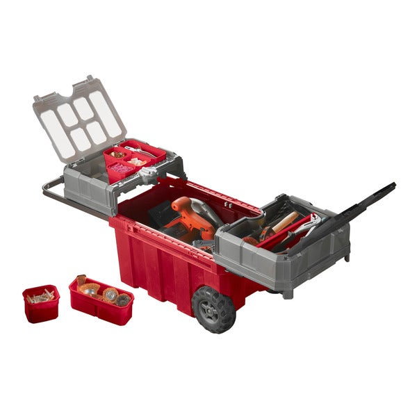 Keter Masterloader Portable Rolling Organizer and Tool Box Storage Solution