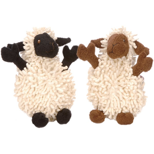 GoDog Fuzzy Wuzzy Lamb With Chew Guard Small
