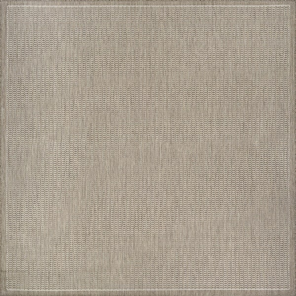 Couristan Recife Saddle Stitch Champagne/Taupe Polypropylene Power-loomed Rug (8'6)