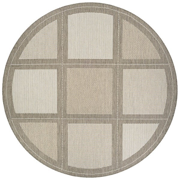 Couristan Inc Recife Summit Champagne/Taupe Polypropylene Power-loomed Rug (8'6 Round)