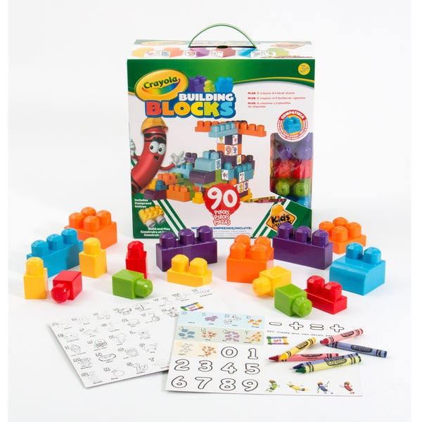 Crayola Kids at Work 90 Piece Boxed Set of Blocks
