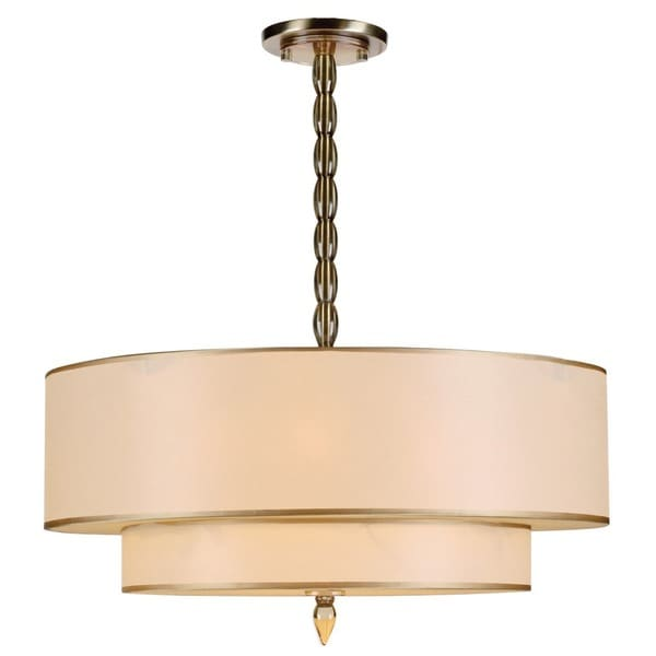 Crystorama Luxo Collection 5-light Antique Brass Chandelier