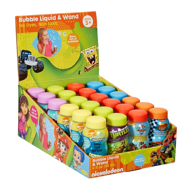 24 Pack Nickelodeon 4 oz Bubbles with Wands
