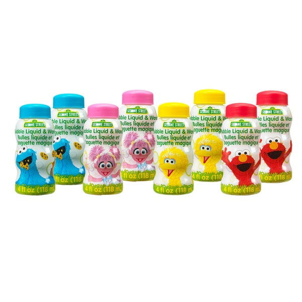 8 Pack Sesame Street 4 Fluid oz of Bubbles with Wands 21812508