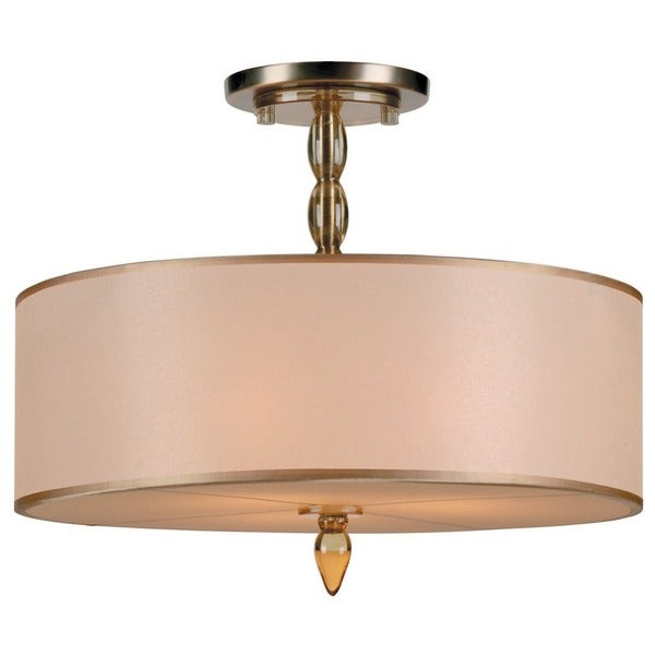 Crystorama Luxo Collection 3-light Antique Bronze Mini Chandelier