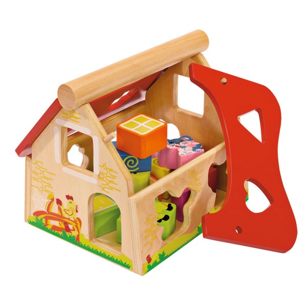 Eichhorn Wooden Shape Sorter House