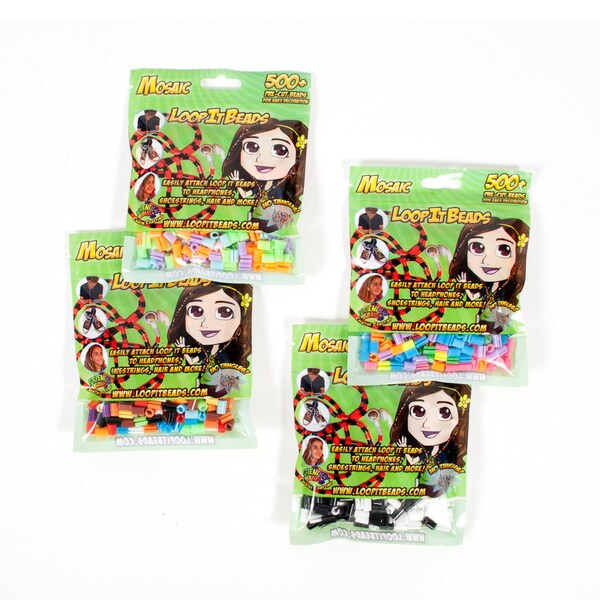 Friendly Bands Loop It Beads Multi Pack Bundle
