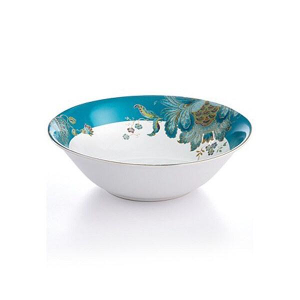 222 Fifth Eliza Teal Porcelain 10-inch Serve Bowl