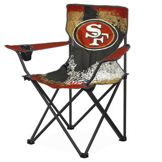 NFL San Francisco 49ers Canvas Camp Chair with Metal Legs