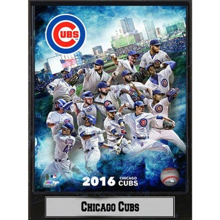 2016 Chicago Cubs 9-inch x 12-inch Stat Plaque