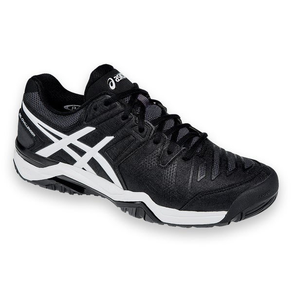Asics Gel Challenger 10 Men's Black and White Synthetic Leather Tennis Shoe
