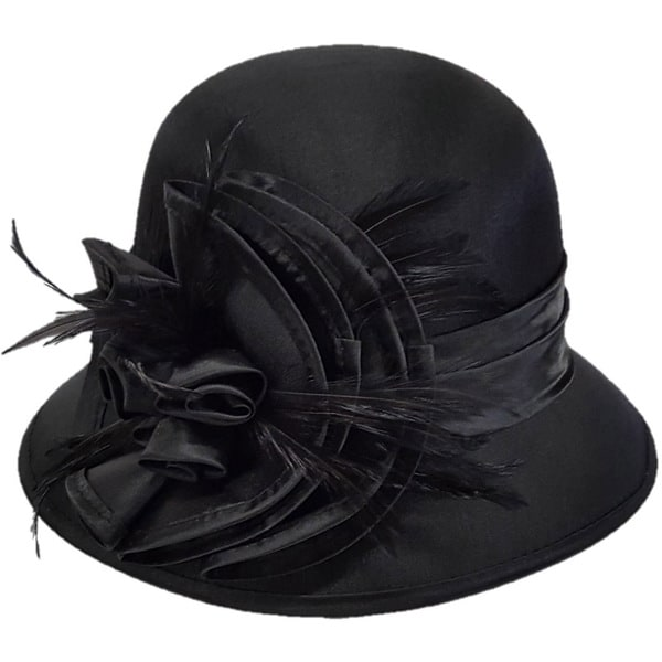 Swan Hat Triple Bow Silk/Satin Shiny Covered Dress Hat