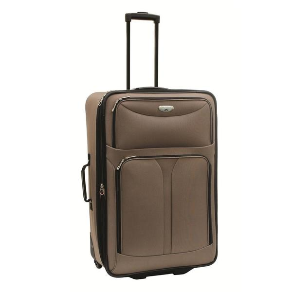 Bon Voyage Luggage Excursion Taupe 25-inch Expandable Rolling Suitcase