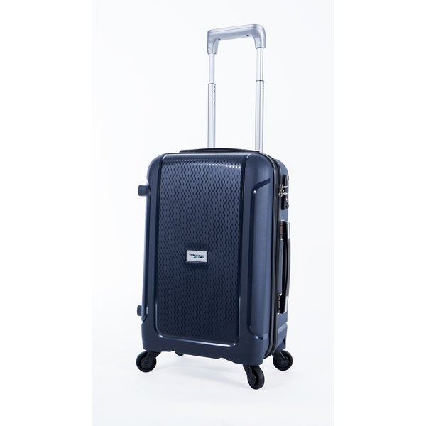 WestJet Luggage Adventure Navy 19-inch Expandable Carry On Hardside Spinner Suitcase