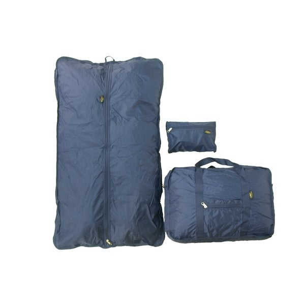 Samboro Luggage Navy 3-piece Carry On Travel Bag Set