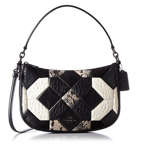 Coach Black Canyon Quilt Chelsea Exotic Leather Crossbody Bag Purse