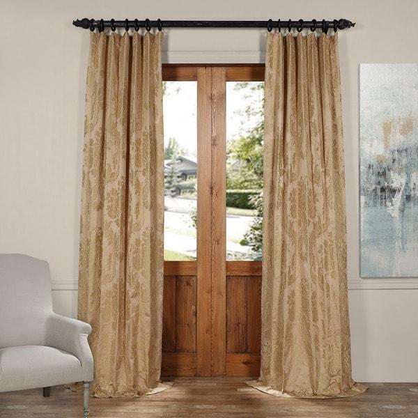 Exclusive Fabrics Magdelena Faux Silk Jacquard Curtain 21837174