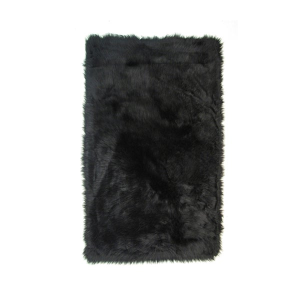 Fun Rugs Home Indoor Outdoor Black Color Rugs -31X47