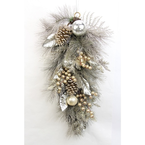 Metallic 28-inch Pine Cone Ornament