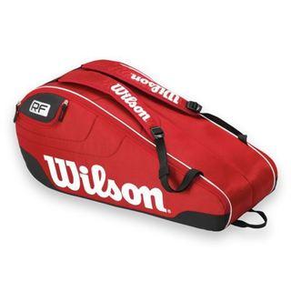 Wilson Federer Team Multicolor Polyester 6-pack Tennis Bag
