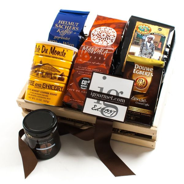 igourmet International Dark Roast Coffee Gift Crate