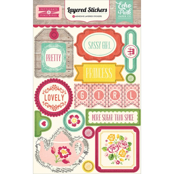 Petticoats & Pinstripes Layered Stickers