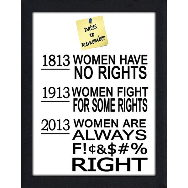 "FramedCanvasArt Studio ""Womens Rights"" Framed Wall Art"
