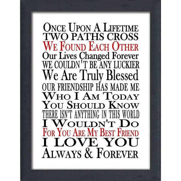 "FramedCanvasArt Studio ""We Found Each Other"" Framed Wall Art"