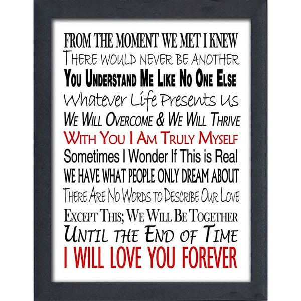 "FramedCanvasArt Studio ""Until The End of Time"" Framed Wall Art"
