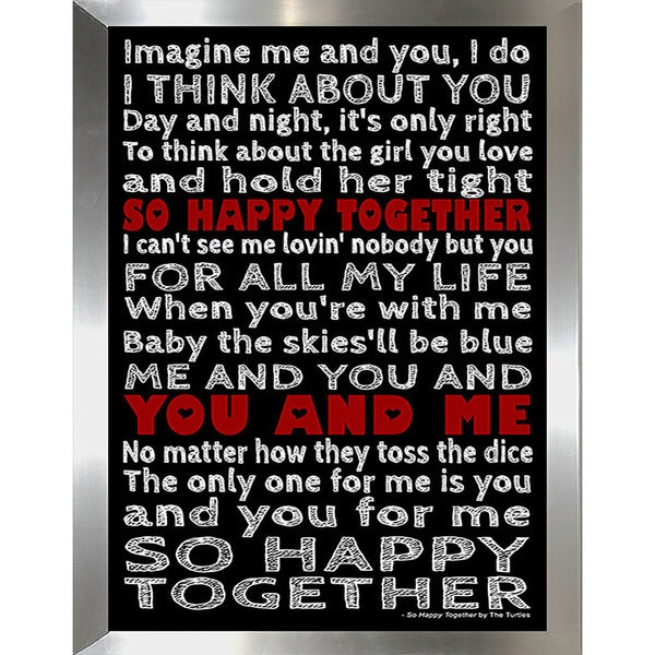 "FramedCanvasArt Studio ""So Happy Together"" Framed Wall Art"