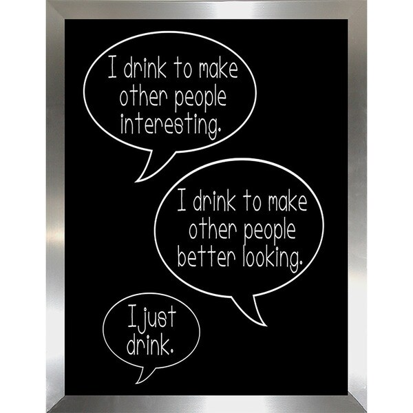 "FramedCanvasArt Studio ""Reasons to Drink"" Framed Wall Art"