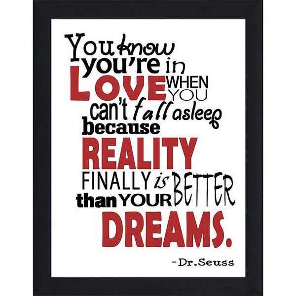 """FramedCanvasArt Studio """"Reality is Better than Your Dreams"""" Framed Wall Art"""