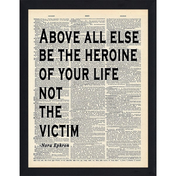 "FramedCanvasArt Studio ""Not the Victim"" Framed Wall Art"