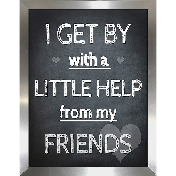 "FramedCanvasArt Studio ""Little Help from my Friends"" Framed Wall Art"