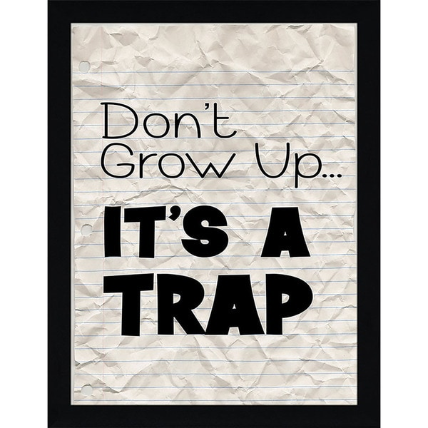 "FramedCanvasArt Studio ""Its a Trap"" Framed Wall Art"