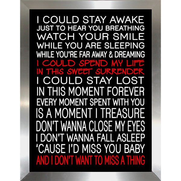 "FramedCanvasArt Studio ""I Dont Want to Miss a Thing"" Framed Wall Art"