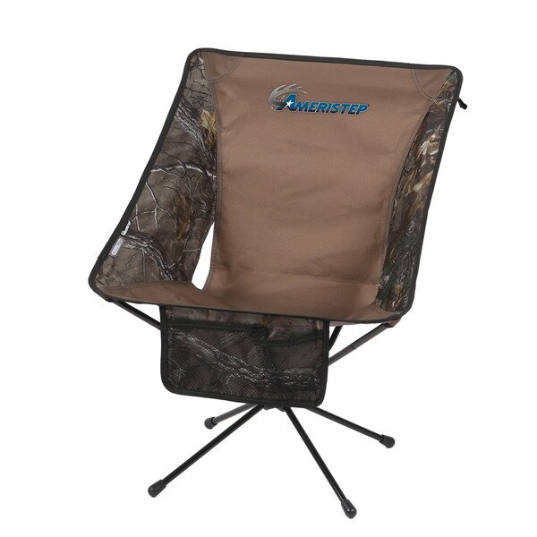 Ameristep Tellus Lite Brown Camo Fabrici/Metal Hunting Chair thumbnail