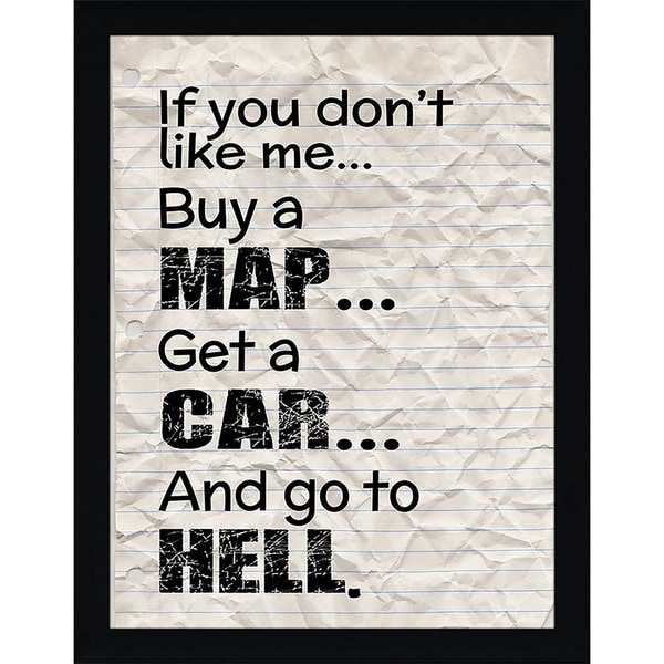 "FramedCanvasArt Studio ""Go to Hell"" Framed Wall Art"