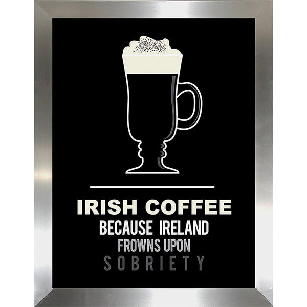 """Irish Coffee"" Framed Wall Art"