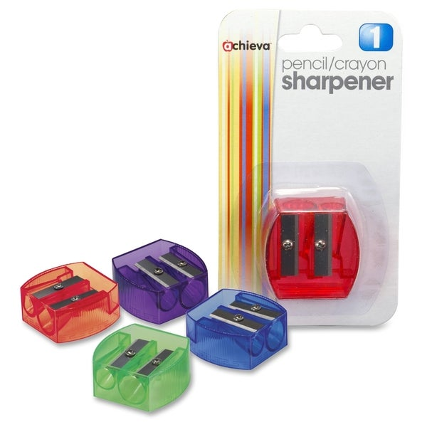 OIC Dual Purpose Pencil & Crayon Sharpener - (1/Each)