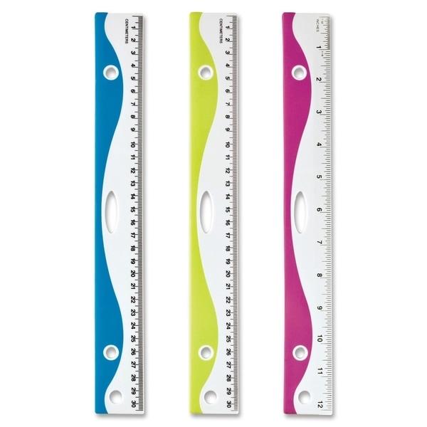 OIC Designer Easy Grip Ruler - (1/Each)