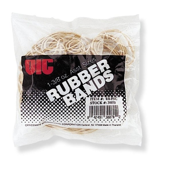 OIC Assorted Size Rubber Band - (1/Bag)