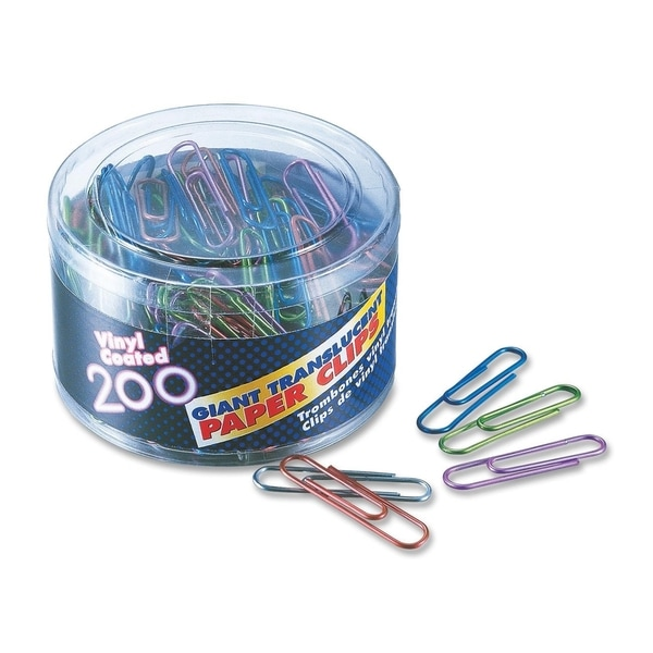 OIC Translucent Vinyl Paper Clips - (200/Box)
