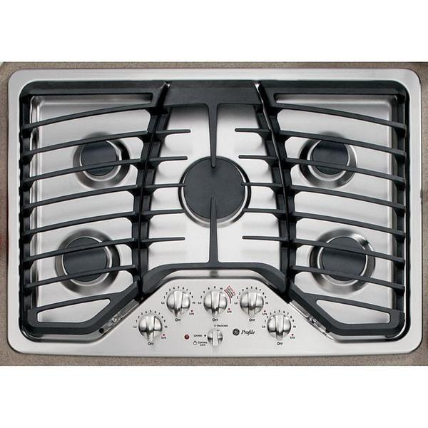 GE Profile Series 30-inch Stainless Steel Built-in Gas Cooktop